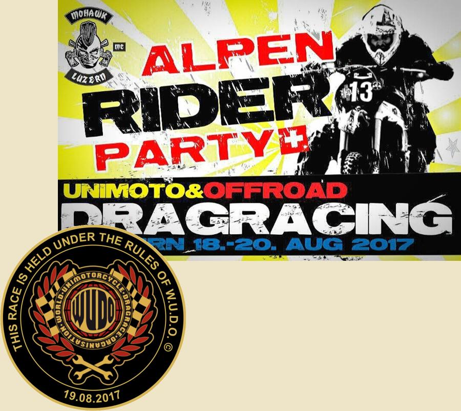 W.U.D.O. Europameisterschaft im Unimoto Drag Race beim Mohawk MC Luzern
