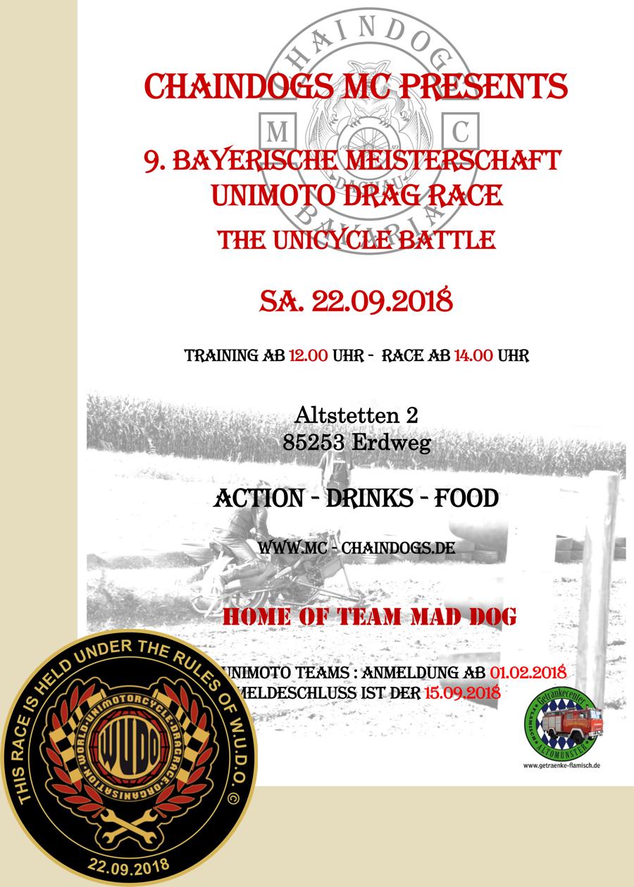 9. Bayerische Meisterschaft im Unimoto Drag Race