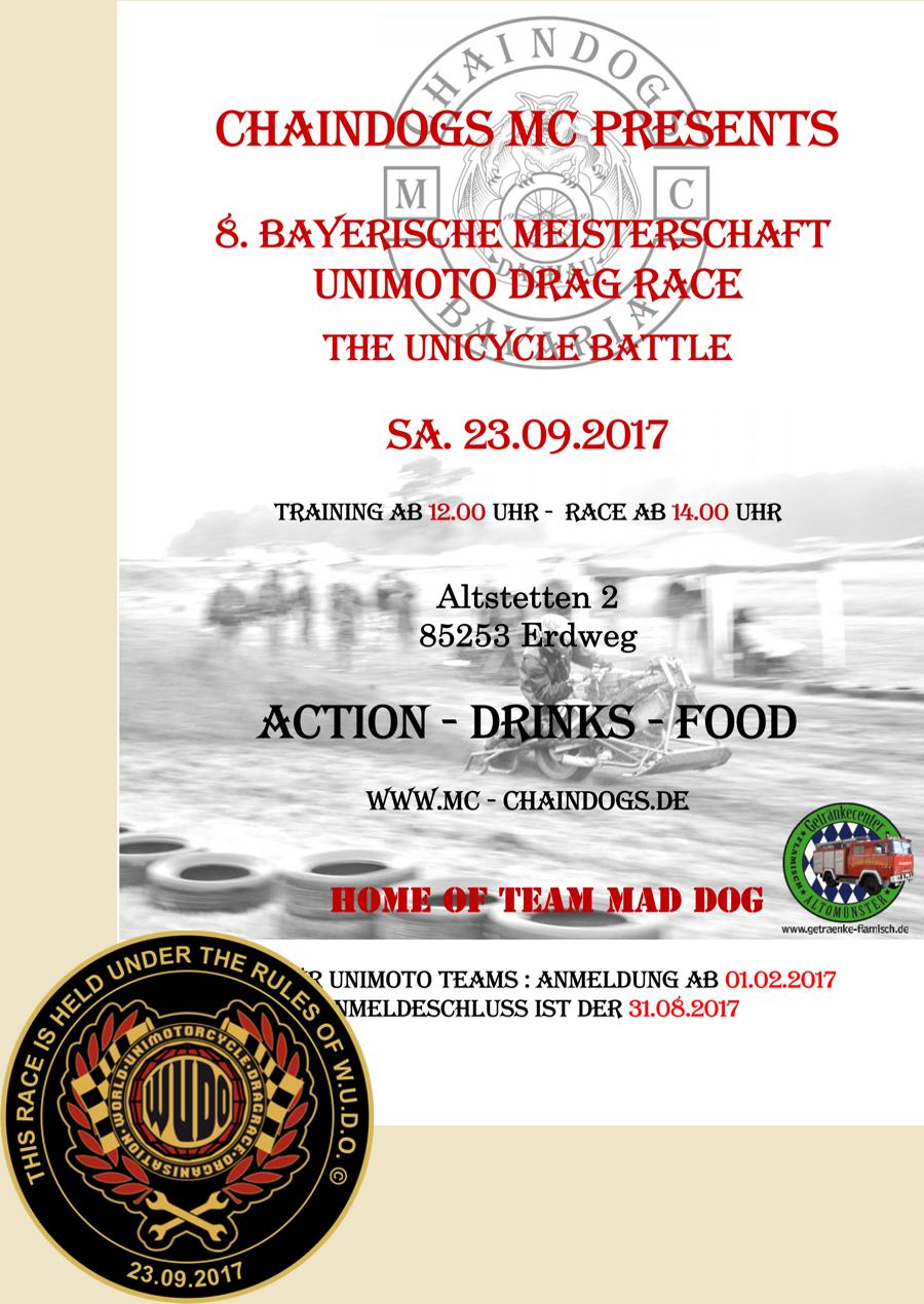 Chaindogs MC Bayerische Meisterschaft im Unimoto Drag Race 2017