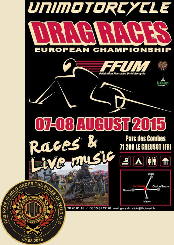 Europameisterschaft im Unimoto Drag Race 2015