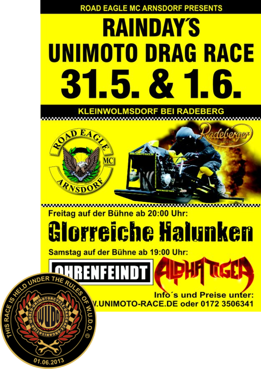 1. Juni 2013: 5. EAGLE CUP im Unimoto Drag Race