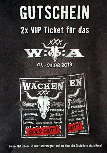 VIP Tickets zum 30 Jährigen WACKEN OPEN AIR Festival 2019