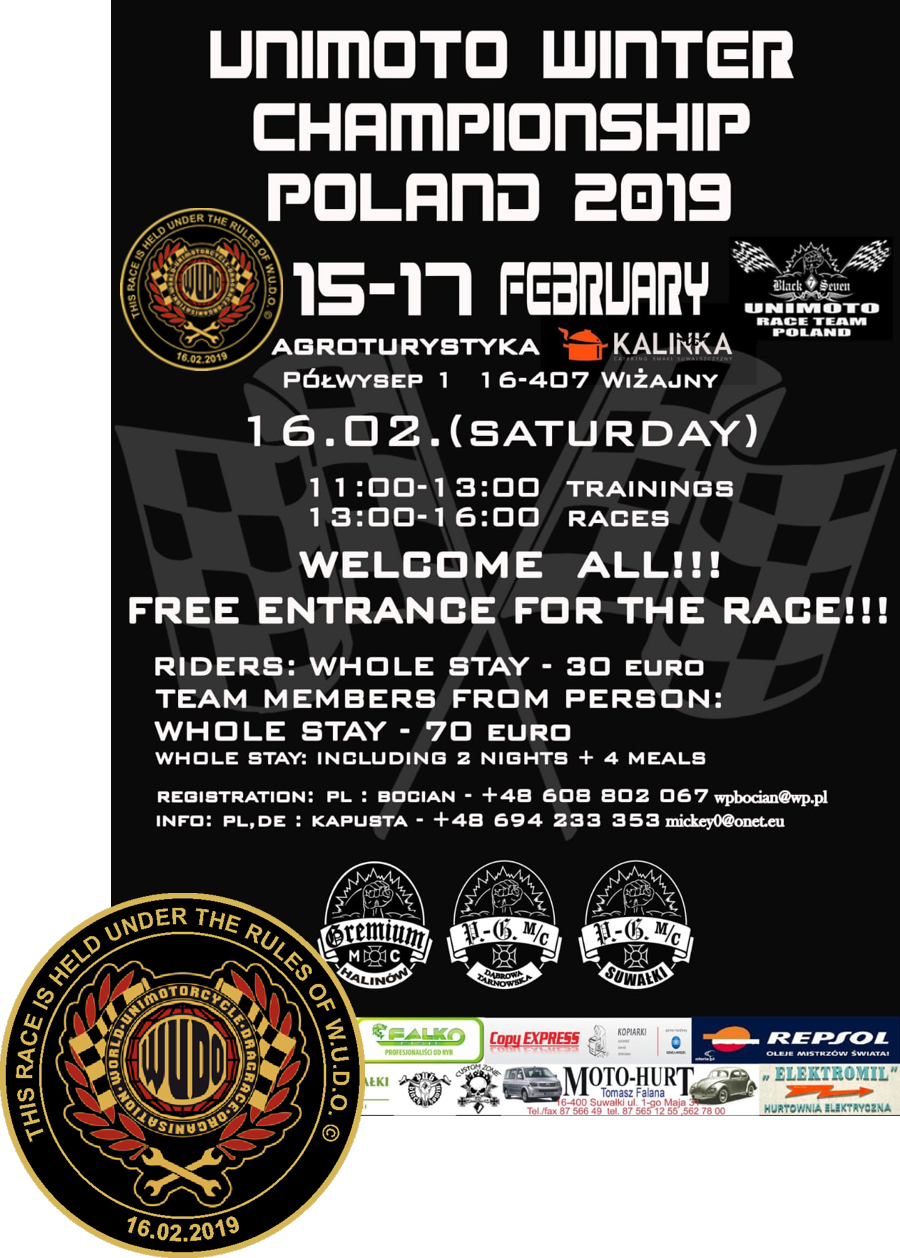 Winter Championship in Unimoto Drag Race Polen 2019