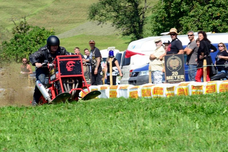 Alpenrider Party mit Unimoto Drag Racing